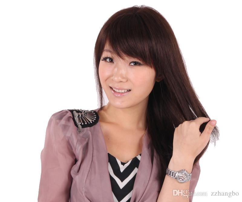 Full Lace Wig Soie 5.5 * 5.5 Yaki Droite Vierge Cheveux Humains 100% Italien Léger Yaki Droite Perruque Bébé Cheveux Pour Les Femmes La Densité 150% Weave Perruques