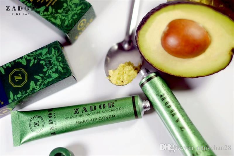 Zador Makeup cover Face Concealer Fine Bar Pure Natural Avocado Oil Waterproof SPF 30 Makeup Base Free DHL