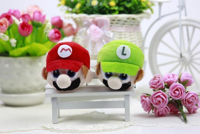 Mario plush Figuras de ação dos desenhos animados Stuffed Plush Toys Mario Brothers brinquedos de pelúcia Super Mario Stuffed Keychain