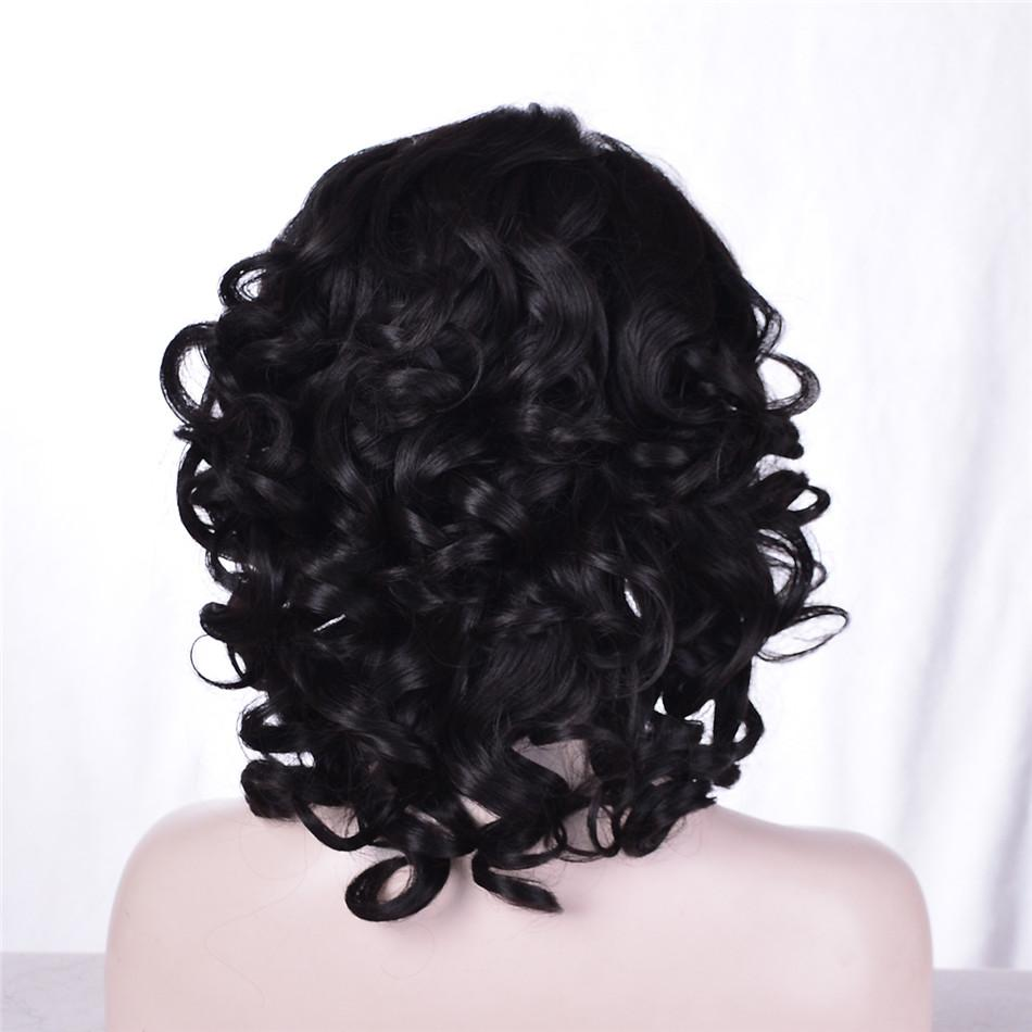 kabell African American Fashion wigs lace front wigs Black short hair curls hair Mixed hair 12 inch Big wave hairstyle lace front wigs