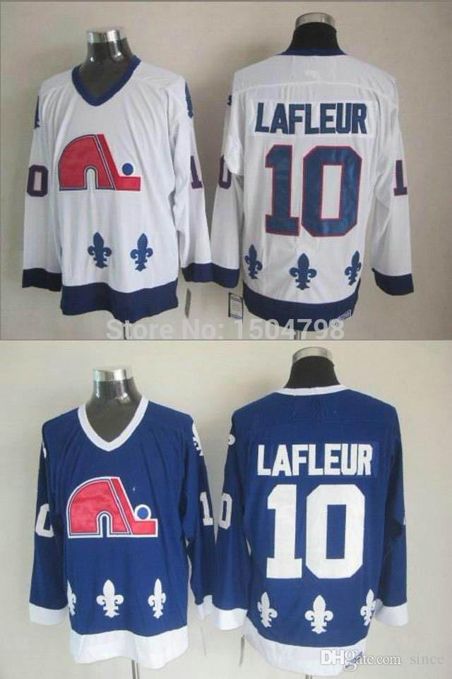 2016 New, Wholesale Men's Ice Hockey Quebec Nordiques #10 Guy Lafleur  Jerseys Blue/White Throwback Hockey,New Stitched Jersey,Siz Jersey Italy  Jersey ...