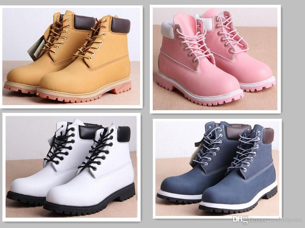 e05282abdd0 Hot sale Winter White Snow Boots Brand Men Women Genuine Leather Waterproof  Outdoor Boots Leather Hiking Shoes Leisure Ankle Boots