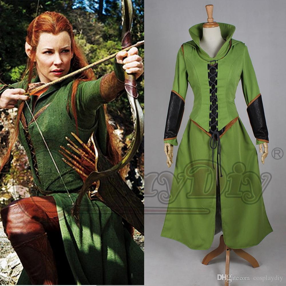 The Hobbit Desolation of Smaug Tauriel Cosplay Costume Custom Made Any size Set