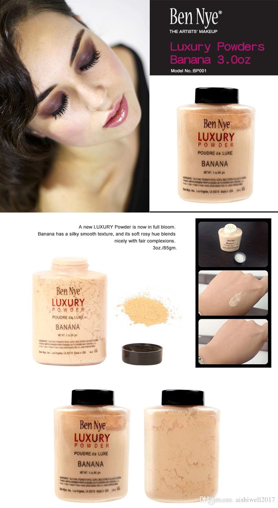 بن ناي LUXURY POWDER POUDER de LUXE Banana Loose Makeup powder 3oz / 85g