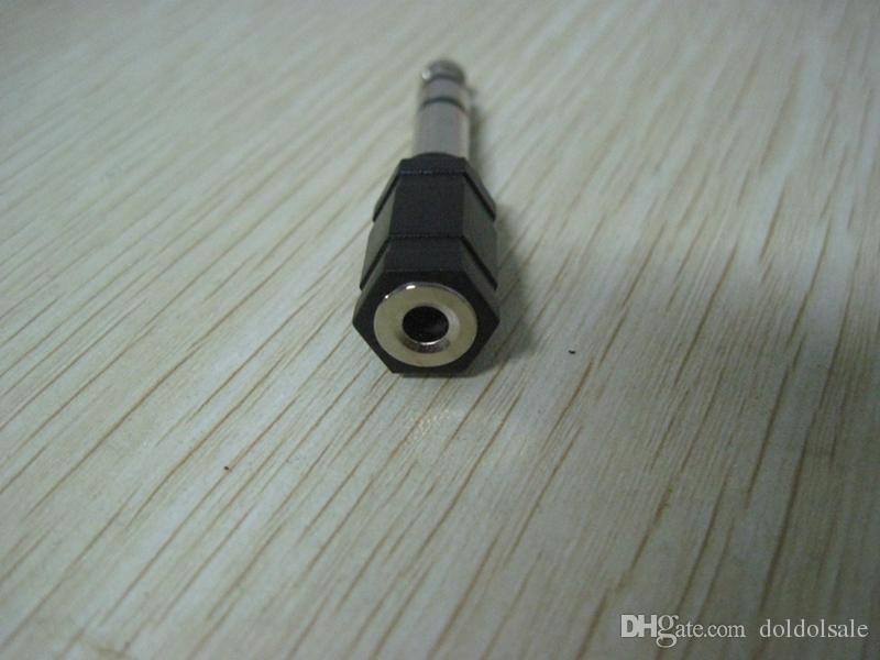 200 шт. Адаптер 6.35 мм штекер 3,5 мм женский аудио разъем конвертера расширитель разъем оптовая DHL