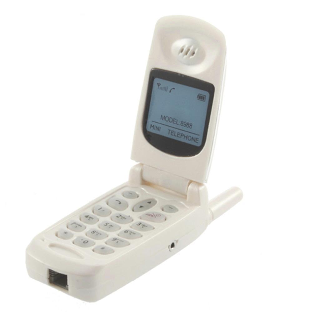 Home Office Mini Corded Land Line Flip Phone Headset Headphone ...