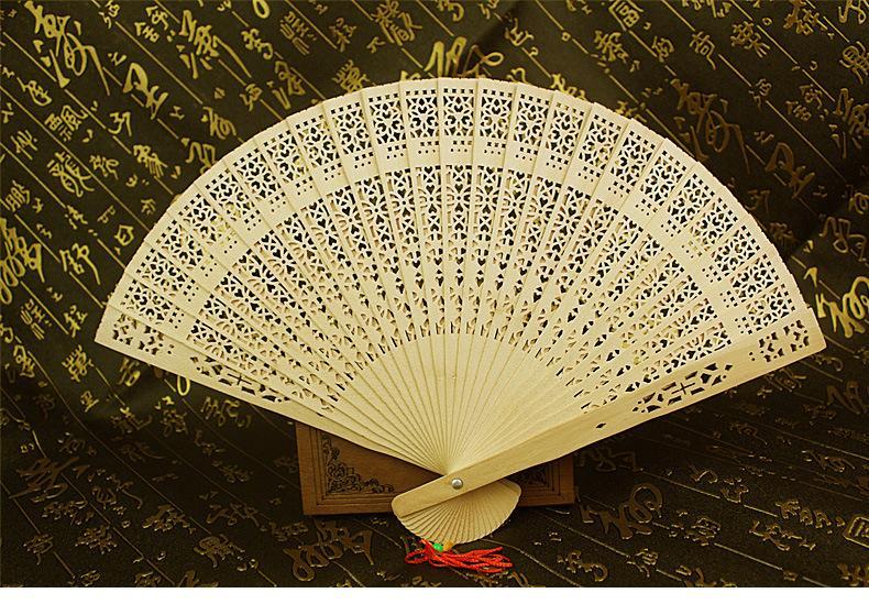 عشاق الزفاف مراوح خشبية اليدوية 8 '' الصينية الصندل المشجعين السيدات اليد مراوح السفر المشجعين الترويجية للطي المشجعين ضيف هدية