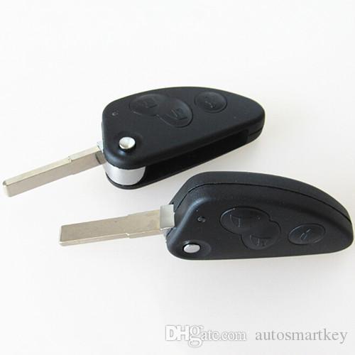 New 3 button uncut blade remote car key case shell key combo flip fob key blank for alfa romeo
