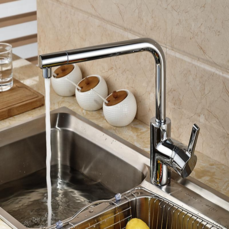Perfect 2018 Wholesale And Retail Brand Polished Chrome Brass Kitchen Faucet Long  Spout Vessel Sink Mixer Tap Single Handle Hole Deck Mounted From  Gonglangno1, ...