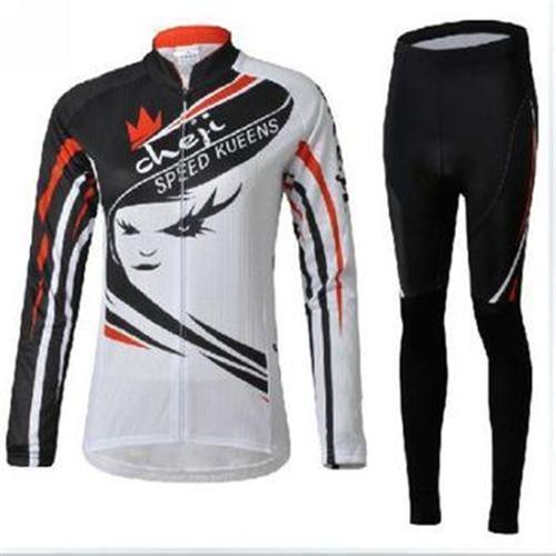 f7f3903a4 hot sale cheji men cycling Jersey sets in winter autumn fall with long  sleeve bike top   pants in cycling clothing