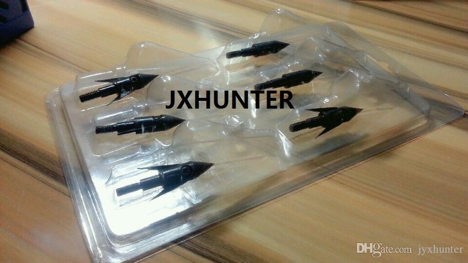 6 PK Fish Hunting Arrowheads Broadheads Arrow Points for Bow Fishing 120 graan in zwarte kleur