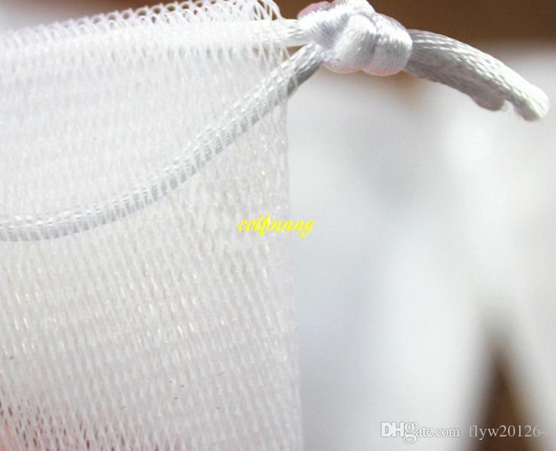 / geben Verschiffen 9x15cm Seifenblasenmaschen-Seifennetz-schäumende einfache Luftblasenmaschenbeutel-Weißfarbe frei