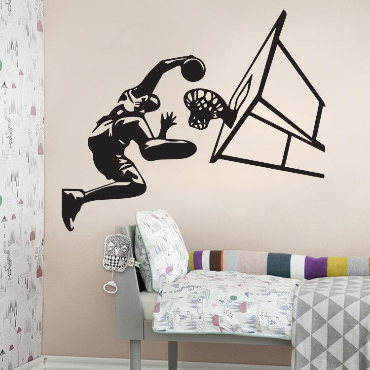Removable Wall Art basketball dunk wall art mural decor home decoration wallpaper