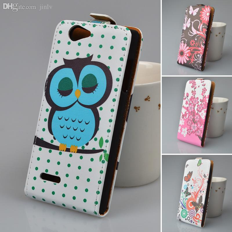 Wholesale-Printing Leather Case For ZTE Blade L2 Flip Cover Phone Bag 5  Colors in Stock