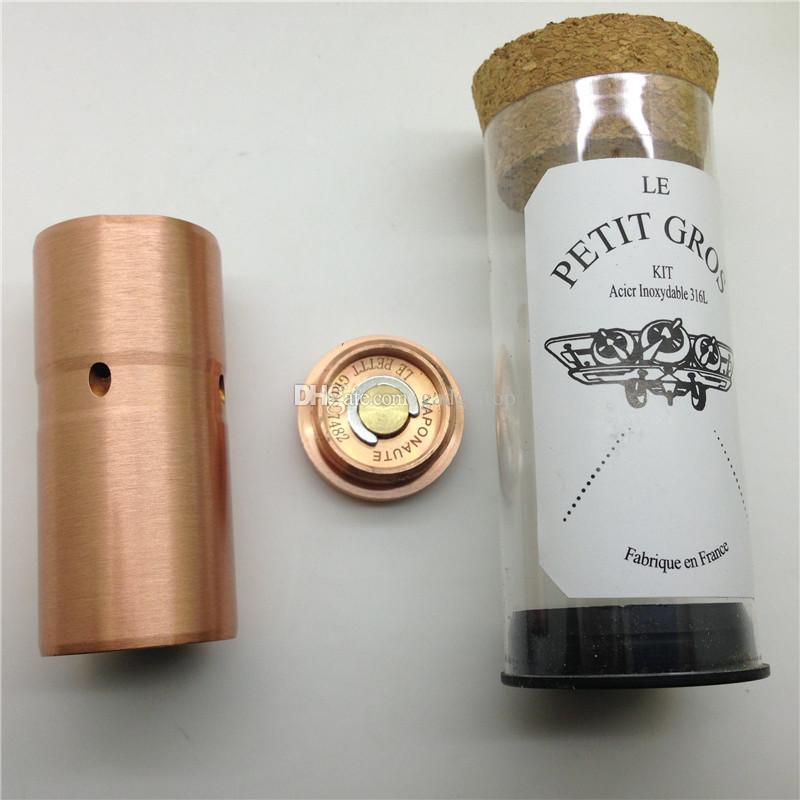 Le Petit Gros 1: 1 Clone 510 Złącze TUTO PETIT GROS Copper Black Rainbow White Mod Fit HOBO V2.1 RDA 22mm 18350 Mod mechaniczne Darmowe DHL