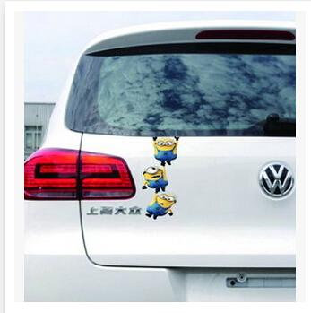 2018 cartoon minion car decals 2015 3d funny car stickers despicable me minion cute minion despicable me decal sticker for car accessories m0720 from