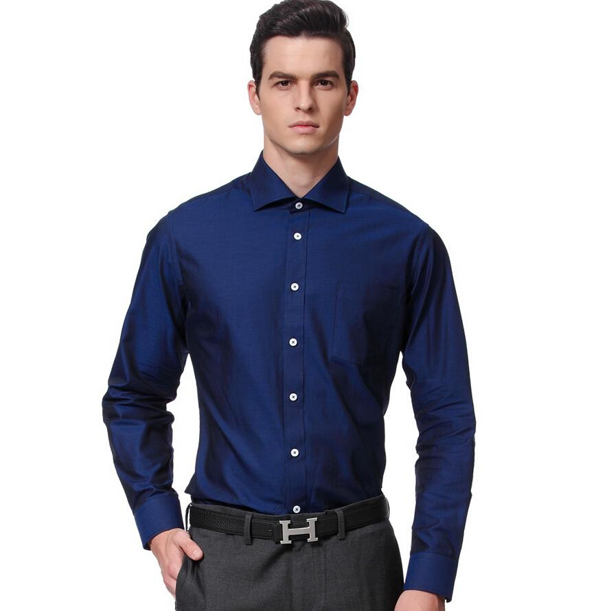Dark Blue Mens Long Sleeve Shirt Charming Fashion Mens Single ...