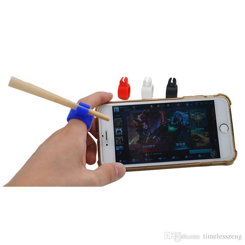 실리콘 담배 홀더 링 크리 에이 티브 링 디자인 담배 홀더 일반 흡연 흡연자를위한 내구성 흡연 액세서리