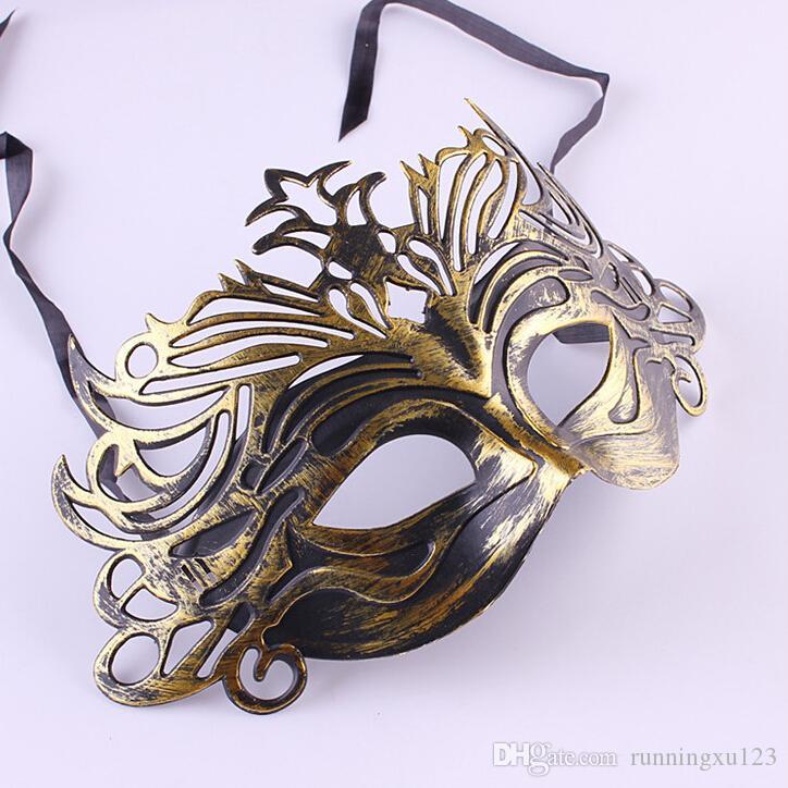 2015 chegam novas Homens do Vintage Máscara Do Partido Das Mulheres Meia Face Máscara de Penas Máscara de Pedaço Máscara Masquerade Máscara de Halloween Máscara Do Partido D171