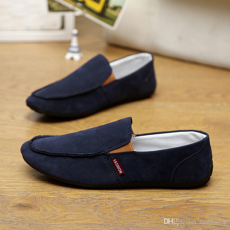 Großhandel 2015 US6 10 Wildleder Herren Komfort Loafer Slip On Herren Auto Fahren Schuhe Herren Boots Schuhe Driving Schuhe Fallen Wz05 01 Von