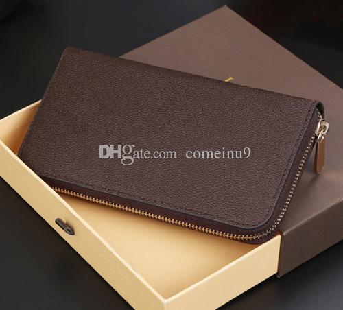 Moda Designer de Embreagem Couro Genuíno Zippy Carteira com caixa de pó saco de 60015 60017 bom preço