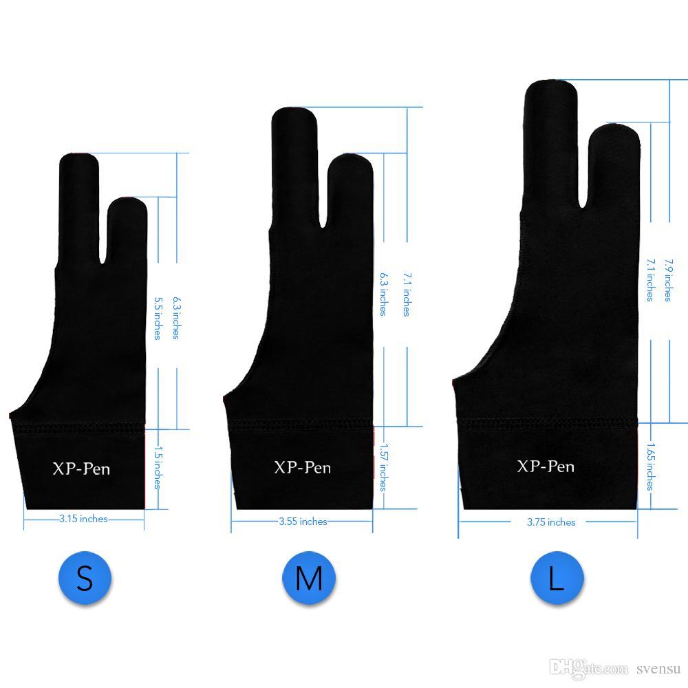 XP-Pen профессиональный художник противообрастающие лайкра перчатки для любого графического планшета S/M / L 3 размеров, подходит для правой и левой руки