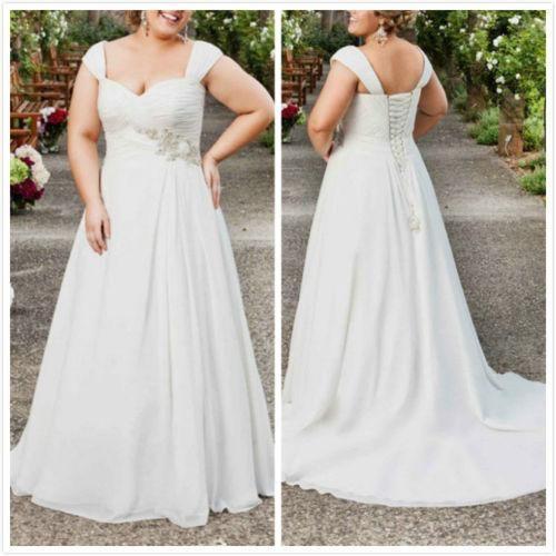 Plus Size Empire Waist Wedding Dress: Discount Empire Waist Plus Size Wedding Dresses Cap