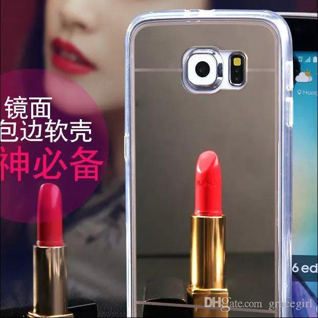 Glitter galvanoplastia espelho bling macio tpu pc phone case de ouro para iphone 6s 6 plus i6 i6s 5 5s samsung galaxy s7 s6 borda plus luxo