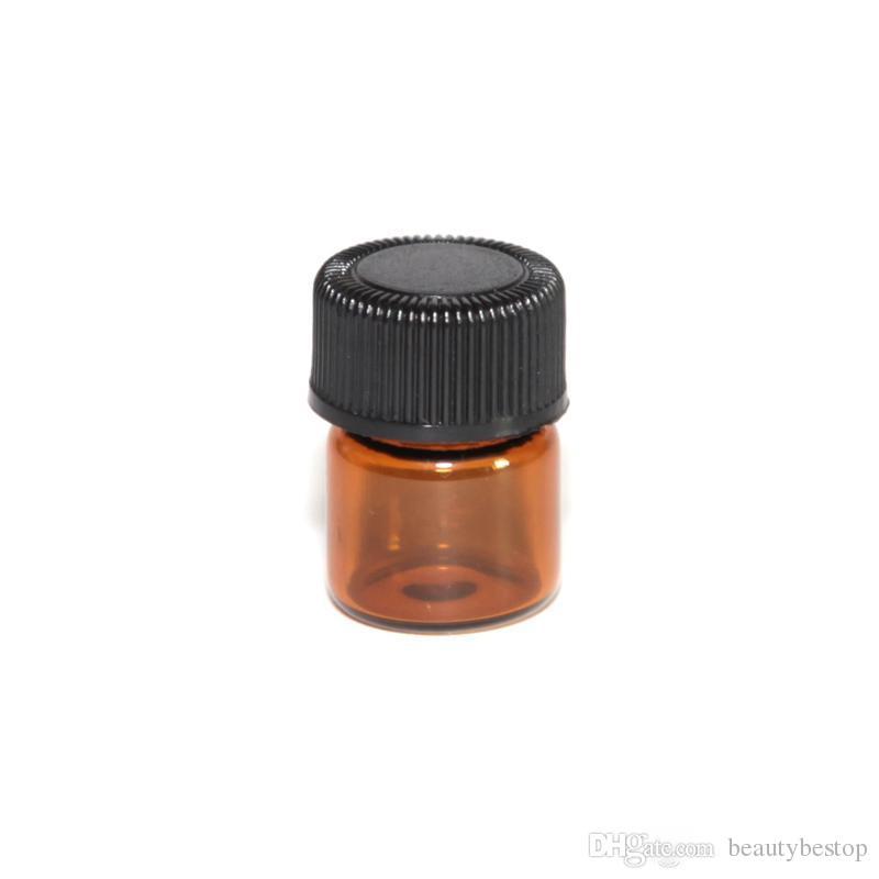 / 1 ml 2 ml Mini Amber Verre Huile Essentielle Échantillon Bouteilles Réducteur Cap Rechargeable Bouteilles Vials En Verre À Vendre