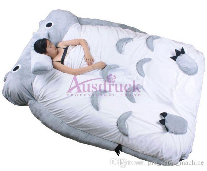 Mon voisin Totoro lit enfants jouets totoro lit double coussin coussin de lit de couchage sofa mignon et confortable