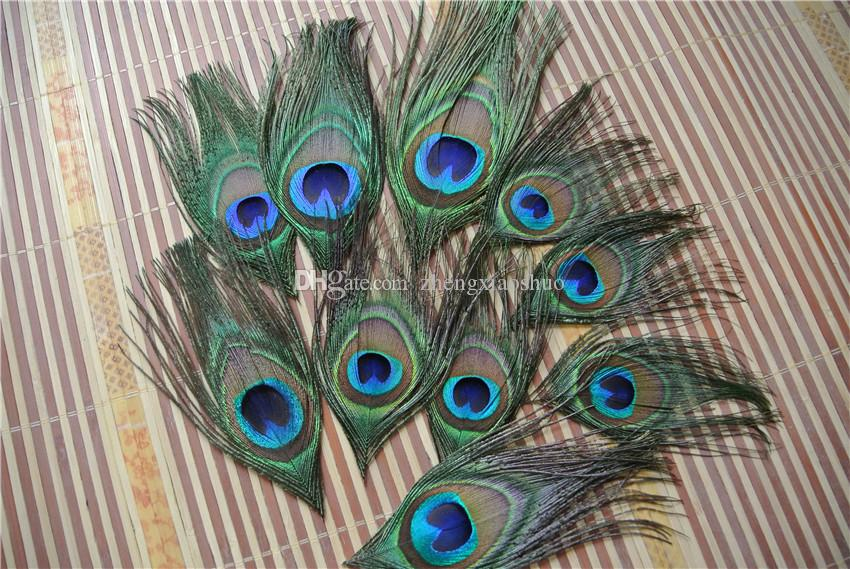 شحن مجاني 500 قطعة / الوحدة قلص الطاووس العين ريشة الطاووس ريشة لحفل زفاف لوازم الديكور