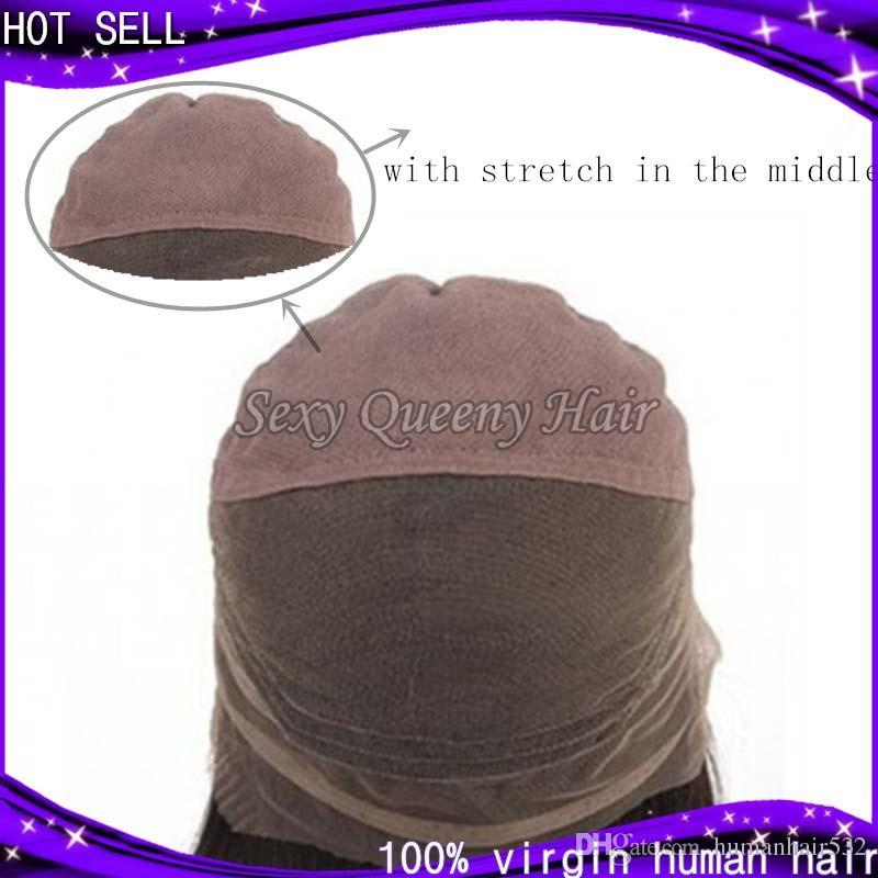 Capelli vergini malesi Glueless parrucca piena del merletto dei capelli umani Ricci crespi Capelli vergini anteriori in pizzo parrucche crespi ricci le donne nere