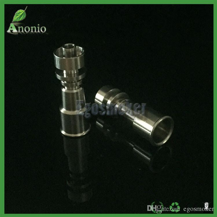 Gr2 Female 10mm/14mm and 14mm/18mm Electric Domeless Titanium Nail Double Function 2 in 1 Coil E Titanium Smoking Accessories