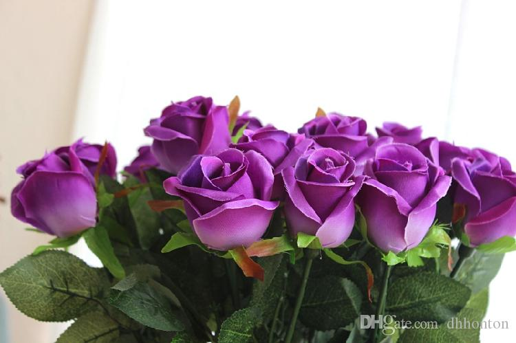 Artificial Rose Silk Craft Flowers Real Touch Flowers For Wedding Christmas Room Decoration Cheap Sale 2015 new style