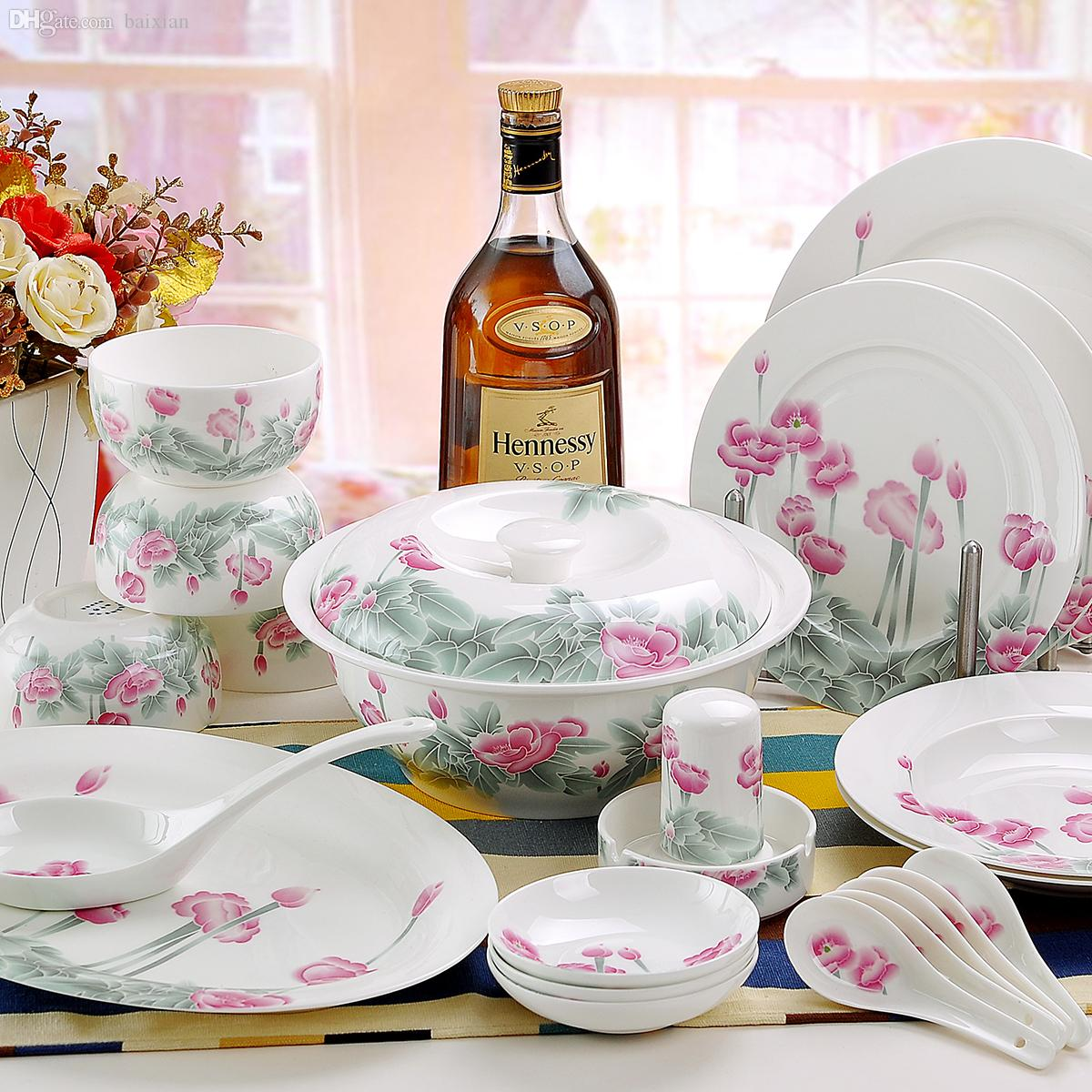 Wholesale Quality Chinese Dinnerware Multicolored Butterfly Flower Tableware Dinnerware Sets Sale Clearance Dinnerware Sets Stoneware From Baixian ... & Wholesale Quality Chinese Dinnerware Multicolored Butterfly Flower ...