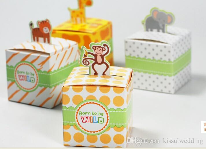 Baby Favor Box Of Born To Be Wild Jungle Themed Baby Animal Favor