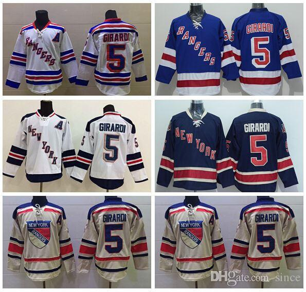 2018 2016 New, New York Rangers 5 Dan Girardi Ice Hockey Jerseys Stadium  Series Blue White Beige Dan Girardi Jersey Wholesales Lowest Price From  Since, ...