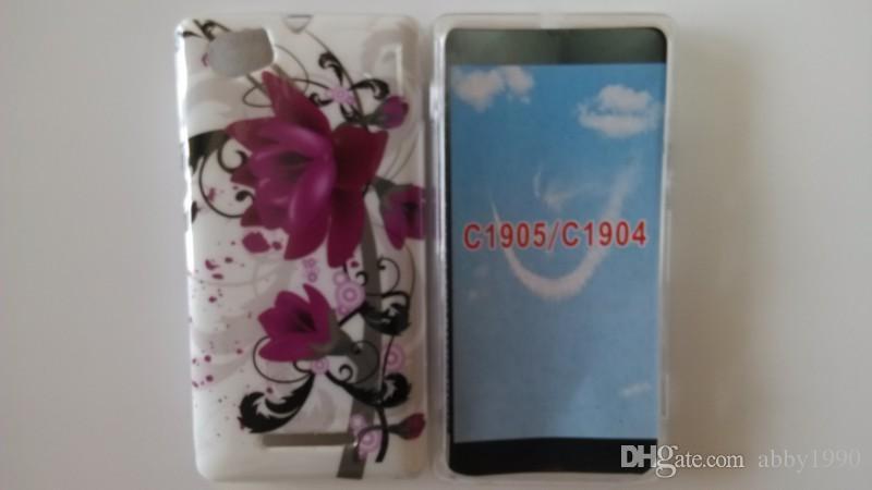 Toptan Aşk Bahçe Kelebek Çiçek Baskı Yumuşak Jel TPU Kapak Kılıf Sony Xperia M C1904 C1905 Ücretsiz Kargo