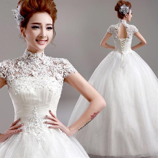 Wedding Gown Korean Style: Discount Real Photo Princess Style 2015 Wedding Dress