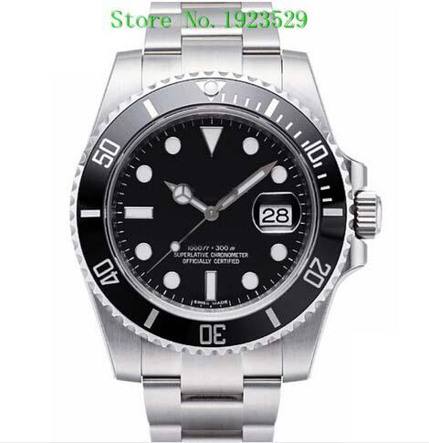Luxury WATCHES Box Black Ceramic Bezel Dial 116610 16610 Stainless Steel Bracelet Automatic Mens Men's Watch Watches Man Wristwatch