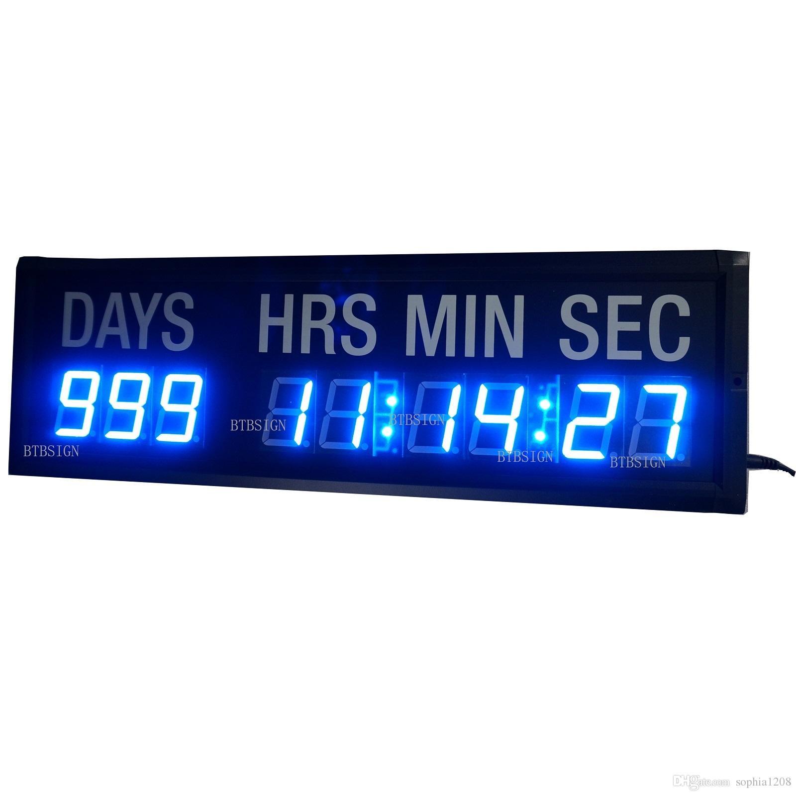 led laufband blaue led countdown uhr in tagen stunden minuten sekunden alle 24 stunden. Black Bedroom Furniture Sets. Home Design Ideas