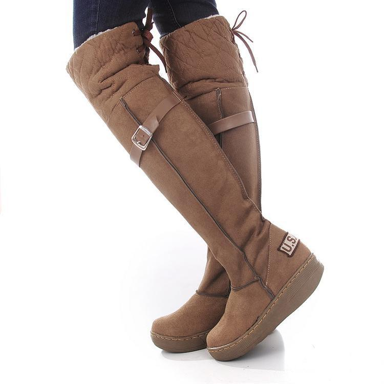 a44b5a305eb Knee High Winter Boots