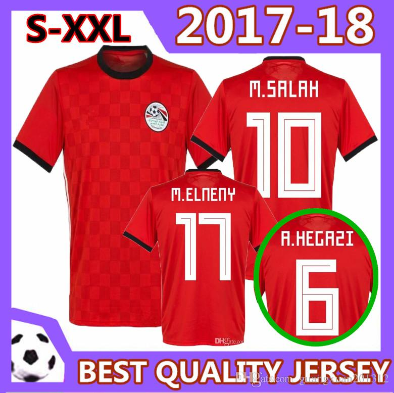 ecfb11e3ab2 2019 Size S XXL Egypt 2018 World Cup Jerseys Home M. SALAH KAHRABA Ramadan  ElNenny Top Thai Quality Soccer Jerseys 18 19 Egypt Football Shirts From ...