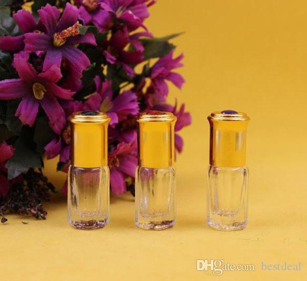3 ml 3 ml roll on flessen wandeling kralen de bal in de avond frosted glass parfum flessen mini fles met hang touw stalen bal thuis faganc