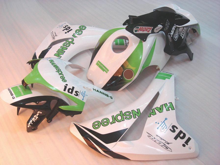 Литье под давлением пластиковый обтекатель комплект для HONDA CBR1000RR 2008-2011 CBR 1000RRR белый зеленый HANNspree обтекатели кузова 08 09 10 11 #U26
