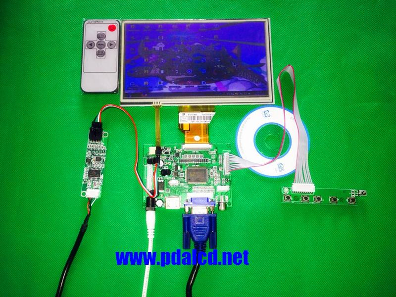 Wholesale For INNOLUX 70 Inch Raspberry Pi LCD Touch Screen Display TFT Monitor AT070TN92 Touchscreen Kit HDMI VGA Input Driver Board Rca Tablet Broken