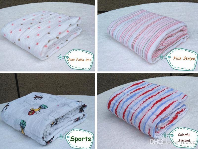 Venta caliente Aden Anais Ropa de cama Edredones Para Bebés Recién Nacidos 100% Muselina Algodón Bebé Cobertor Mantas Cobertor Infantil Suave Envoltura para Bebé