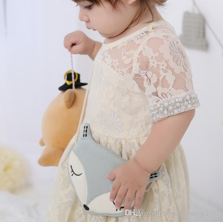 Schöne Kinder Umhängetasche Geldbörse Nette Fox Mädchen Umhängetasche Baby Zubehör Geschenk für Kinder