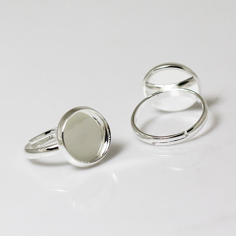 Beadsnice rings for children silver plated brass finger ring settings ring blanks fits 10mm round gemstone wholesale jewelry ID 11218