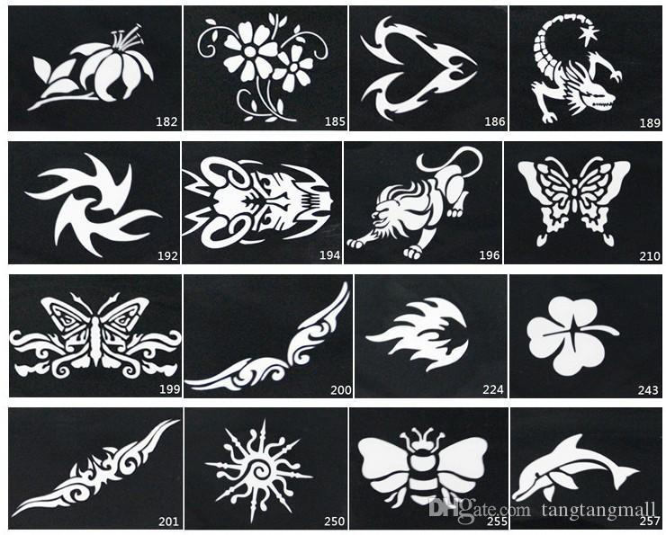 Mixed Design Stencils For Body Painting Glitter Temporary ...